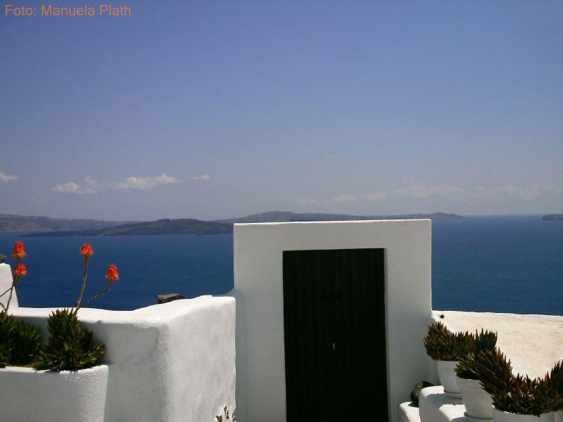 Santorini. Weiße Tür